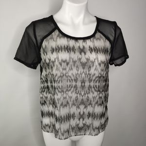 American Eagle Sheer Short Sleeve Top Size Small